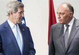 شكري يبحث مع وزير خارجية أمريكا هاتفيًا عددًا من القضايا الإقليمية