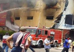 ارتفاع أعداد ضحايا حادث حريق مصنع أثاث العبور إلى 26 شخصا