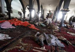 مقتل ثمانية في الهجومين الانتحاريين على مسجد للزيديين في صنعاء باليمن