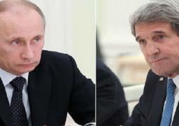 كيري يبحث مع بوتين تطورات الملف السوري الثلاثاء