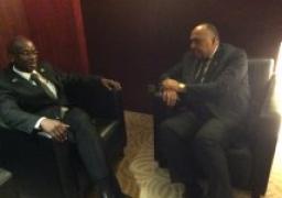 شكري يستقبل نظيريه البوروندي والجزائري على هامش اجتماعات الاتحاد الافريقى فى أديس ابابا