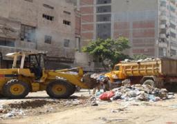 رفع وإزالة 2270 طن قمامة ومخلفات مباني بمركز ملوي بالمنيا