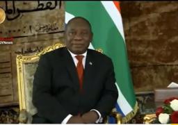 رئيس جنوب افريقيا: السيسي قاد القارة السمراء بطريقة رائعة