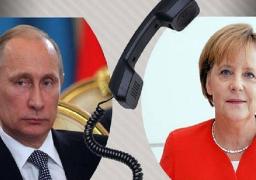 بوتين يبحث مع ميركل الجوانب المتعلقة بمؤتمر برلين حول ليبيا