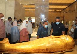تفقد الدكتور خالد العناني وزير السياحة والآثار، المتحف القومي للحضارة المصرية بالفسطاط أمس، وذلك عقب الاجتماع الذي عقد بمجلس ادارة المتحف للترحيب والتعريف برئيس هيئة المتحف.