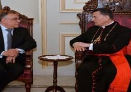 """سفيرنا ببيروت:البطريرك""""صوت حكيم"""" يسعى لإطفاء الحرائق السياسية بلبنان"""