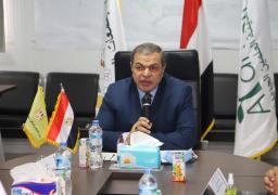 """""""سعفان"""" يتابع إجراءات السلامة للوقاية من كورونا بمصانع الإسكندرية"""