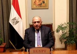 شكري يبحث مع نظيره اللبناني سبل تحريك المشهد السياسي في لبنان