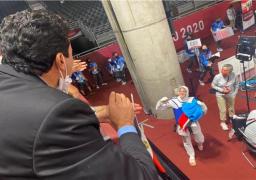 وزير الرياضة يهنئ هداية ملاك وسيف عيسى ببرونزيتي طوكيو