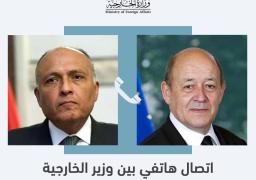 شكري يبحث هاتفيا مع نظيره الفرنسي قضية سد النهضة والتطورات فى تونس