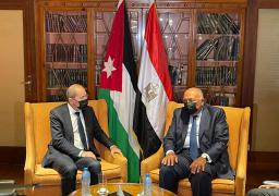 شكري يبحث مع الصفدي سبل تعزيز العلاقات بين مصر والأردن
