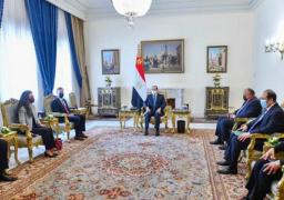 الرئيس ومستشار الأمن القومي الأمريكي يبحثان مستجدات القضية الفلسطينية وسبل إحياء عملية السلام