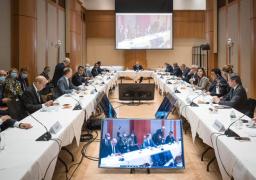 شكرى يشارك في اجتماع مجموعة مسار برلين حول ليبيا