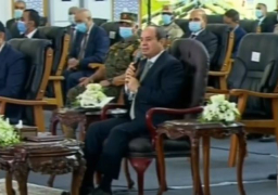 السيسي: اتوجه بالشكر لله على ما يتحقق من مشروعات على أراض مصر
