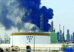 اندلاع حريق في مصفاة ميناء الأحمدي بالكويت ووقوع إصابات