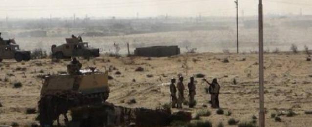 مقتل 9 إرهابيين والقبض على 8 آخرين بالشيخ زويد فى حملة أمنية