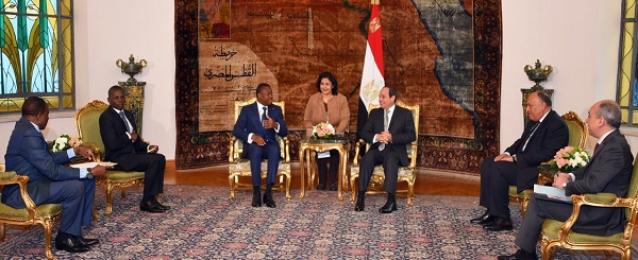 الرئيس السيسى ونظيره التوجولي يبحثان تعزيز التعاون بكافة المجالات