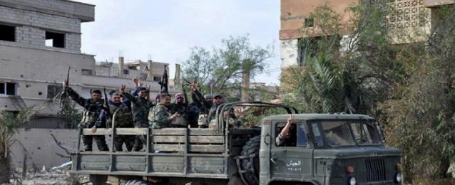 الجيش السورى يسطر بالكامل على مدينة السخنة ويطرد داعش من آخر معاقله بمحافظة حمص