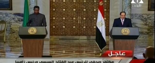 بالفيديو.. السيسي ولونجو يؤكدان حرصهما على تعزيز التعاون بين مصر وزامبيا