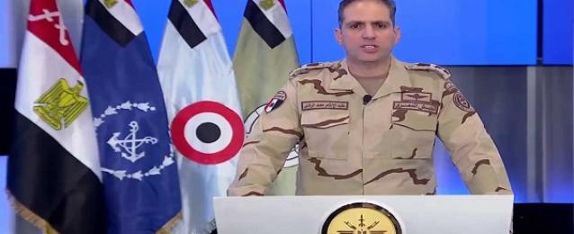 """بالفيديو …. بيان رقم (6) بشأن العملية الشاملة للقوات المسلحة """" سيناء 2018 """""""