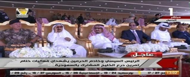 """الرئيس السيسي والملك سلمان يشهدان ختام تدريب """"درع الخليج"""""""