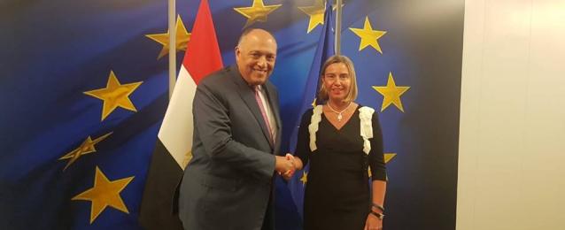 وزير الخارجية يلتقي الممثلة العليا للسياسة الخارجية والأمنية للاتحاد الأوروبي في بروكسل