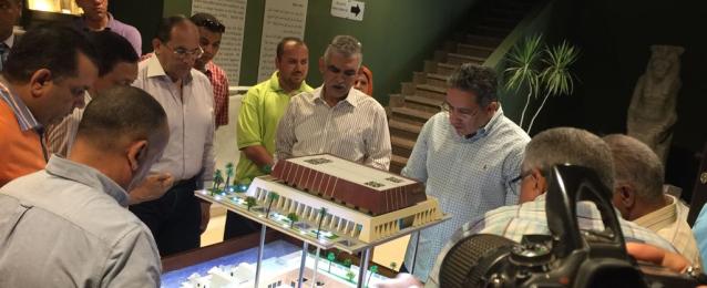 وزير الاثار يتفقد متحف سوهاج القومي تمهيدا لافتتاحه