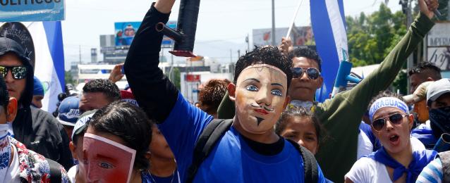 الاف السكان يطالبون باستقالة أورتيجا في نيكاراجوا