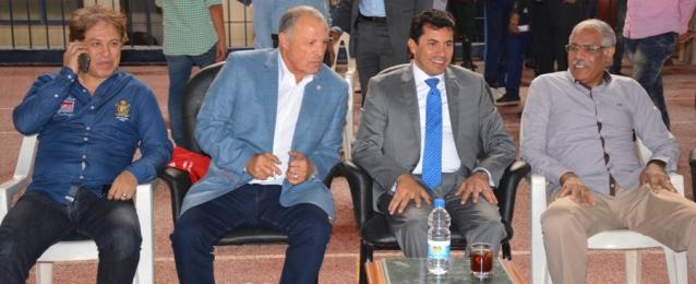 صبحي يشهد مران المنتخب استعدادا لمواجهة سوازيلاند