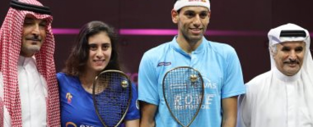 تأهل محمد الشوربجى ونور الشربينى لقبل نهائى بطولة أمريكا المفتوحة للإسكواش