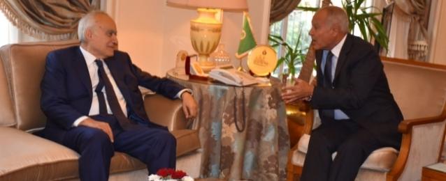 أبوالغيط والمبعوث الأممي إلى ليبيا يبحثان جهود حل الأزمة الليبية