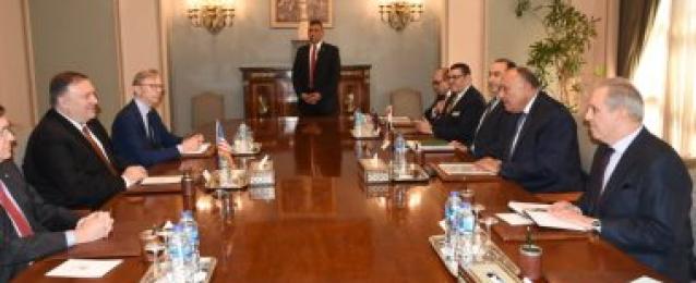 بومبيو يؤكد ان الولايات المتحدة تساند مصر في حربها ضد الإرهاب