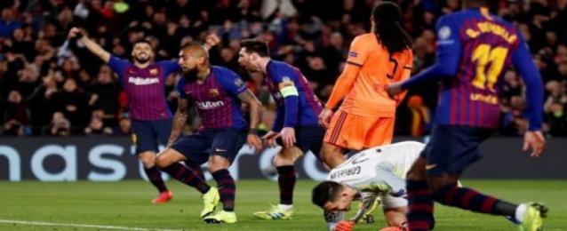 برشلونة يسحق ليون بخماسية ويصعد لربع نهائي دوري الأبطال