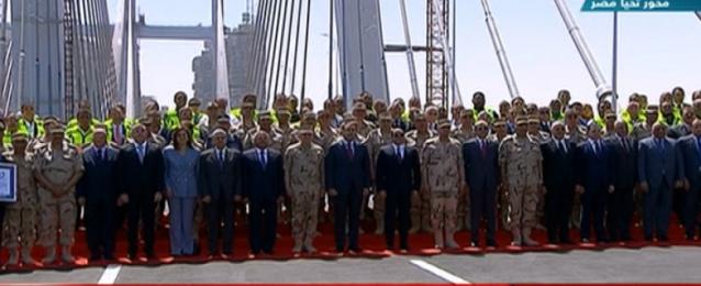 الرئيس السيسي يفتتح محور روض الفرج وكوبري تحيا مصر الملجم