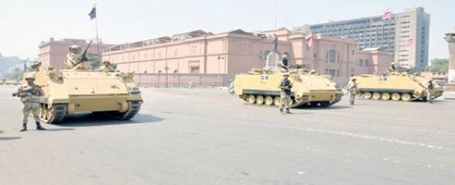 تواجد أمني مكثف بميداني التحرير ورابعة ومداخل القاهرة الكبرى