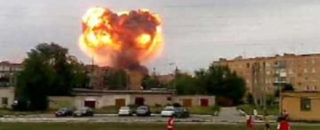 مقتل عشرة أشخاص في انفجار بمستودع ذخيرة فى روسيا