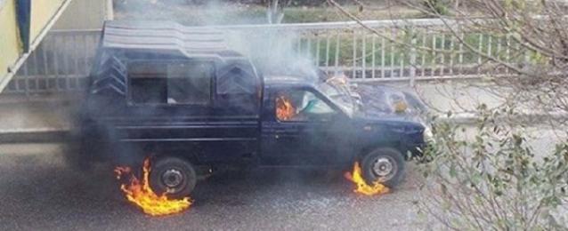 الحماية المدنية تخمد حرائق في 5 سيارات شرطة ببورسعيد