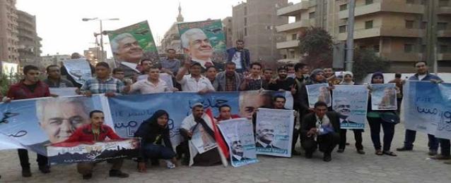 الدستور:تنظيم سلسة بشرية لدعم صباحي فى الانتخابات