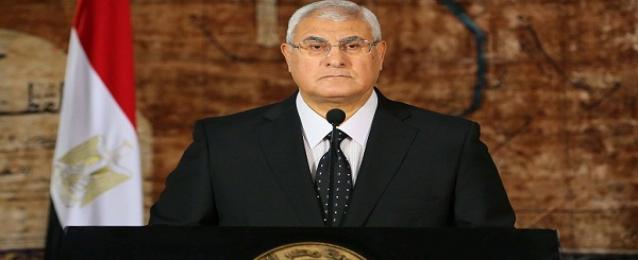 الرئيس عدلي منصور يعزي الرئيس التركي في ضحايا حادث المنجم