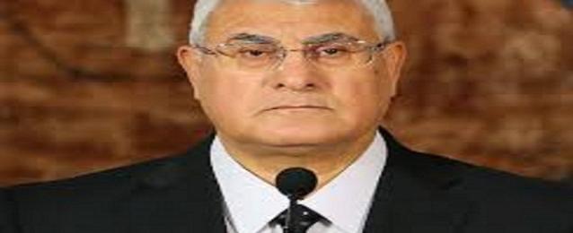 الرئيس منصور يدلي بصوته في انتخابات الرئاسة