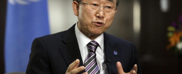 بان كي مون يدعو للتركيز على جهود السلام في الشرق الأوسط