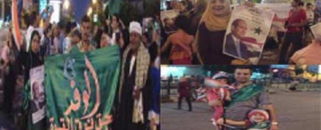 حزب الوفد ببني سويف ينظم فعالية شعبية لتأييد السيسي بميدان الزراعيين