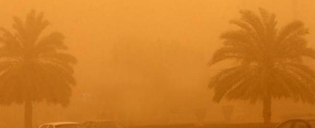 عاصفة ترابية تجتاح الوادي الجديد