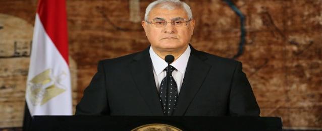 منصور يترأس اجتماعا لمناقشة الوضع بليبيا والانتخابات الرئاسية