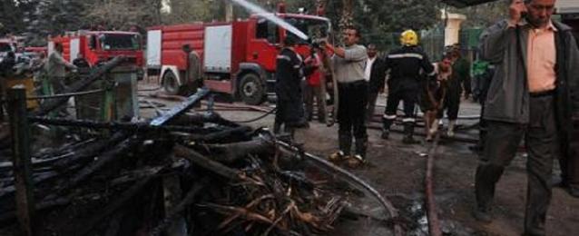 قوات الحماية المدنية بالجيزة تتمكن من السيطرة على حريق بحديقة الحيوان