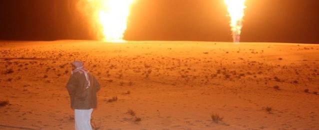 مجهولون يفجرون خط الغاز جنوب مدينة العريش