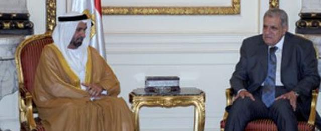 """""""محلب"""" يلتقى وفد البرلمان العربى .. و""""الجروان"""": نؤيد مصر وشعبها"""