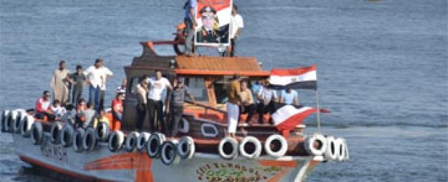 مواصلة الدعاية البحرية للسيسي علي سواحل الإسكندرية