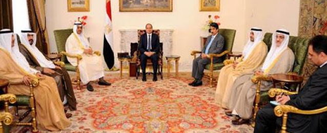 الرئيس السيسي يستعرض مع رئيس مجلس الأمة الكويتي العلاقات بين البلدين