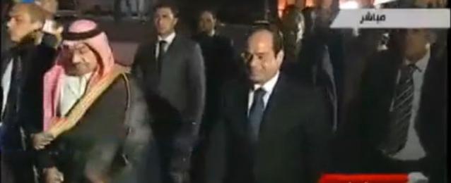 """بالفيديو : فى زيارة تاريخية..الرئيس """"السيسى"""" يستقبل العاهل السعودى"""